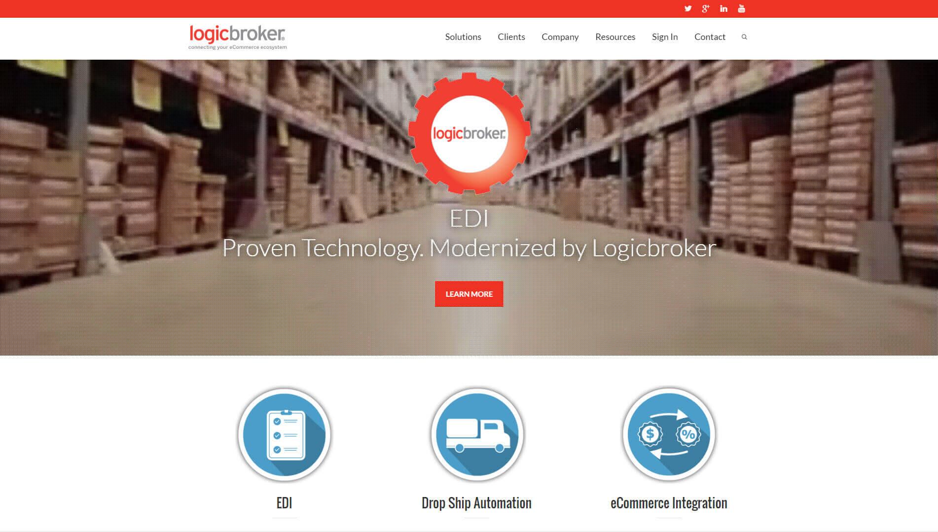Logicbroker Homepage