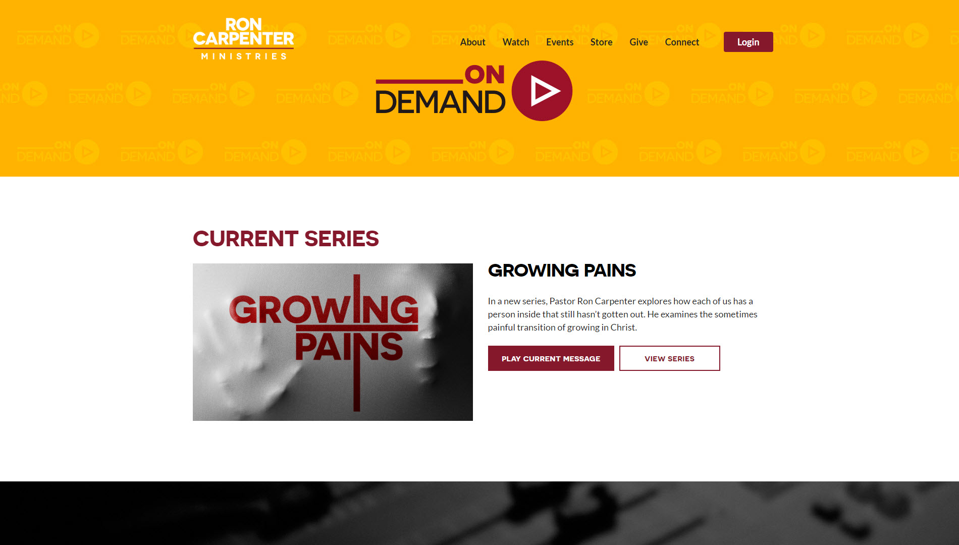 Ron Carpenter Ministries On Demand Page