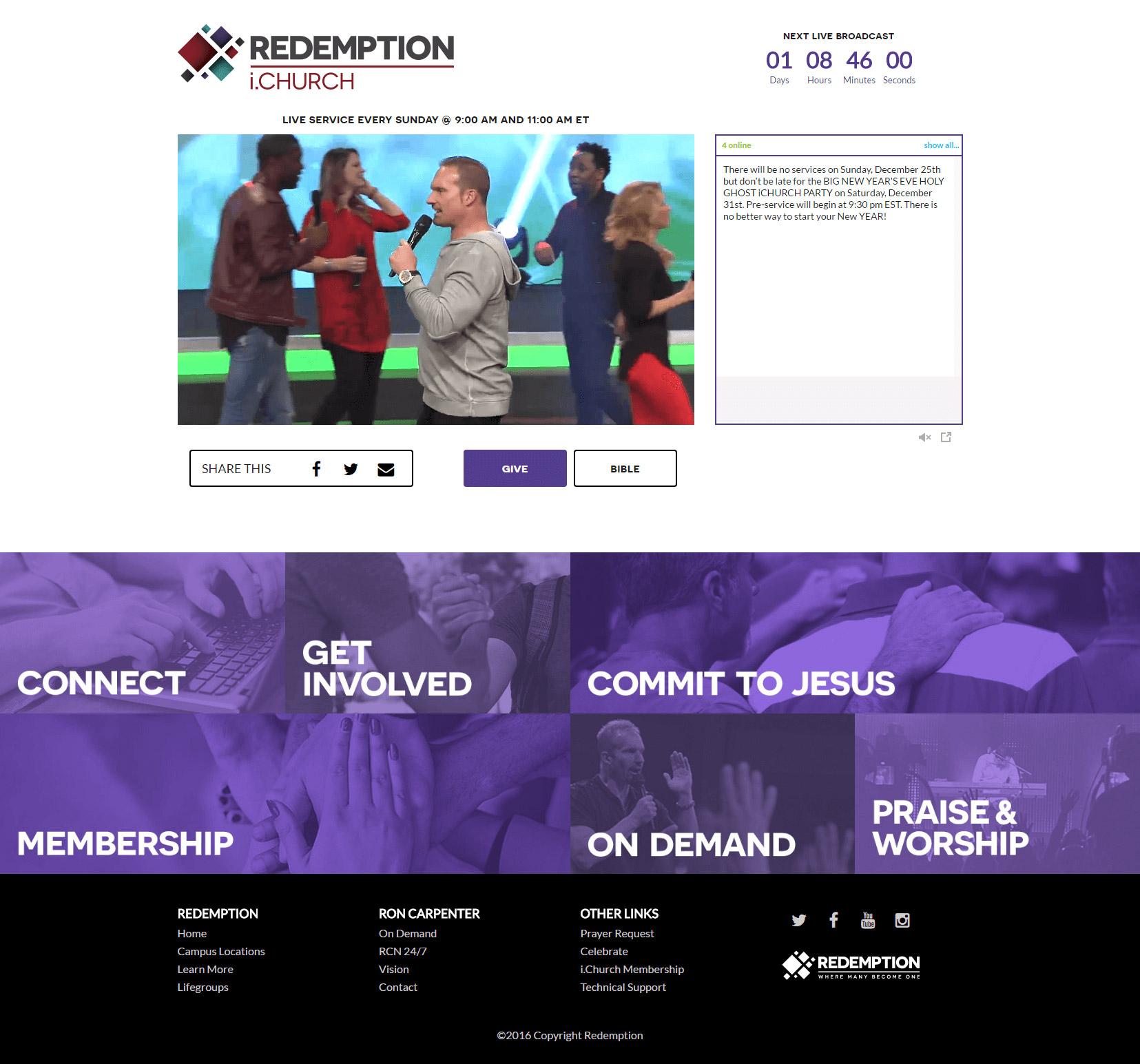 iChurch homepage