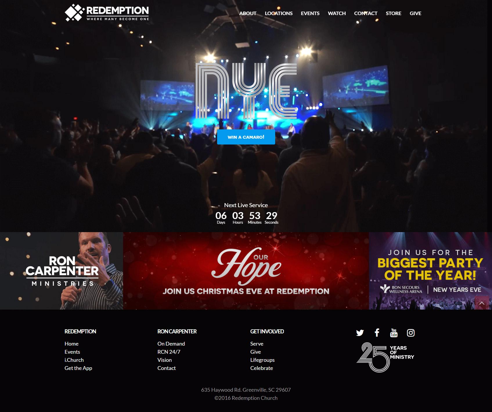 Redemption Church Homepage