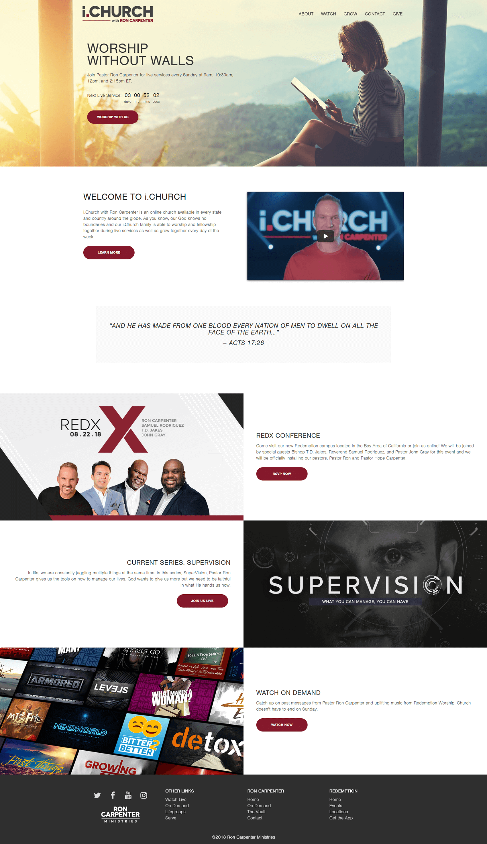 i.Church 2018 Homepage