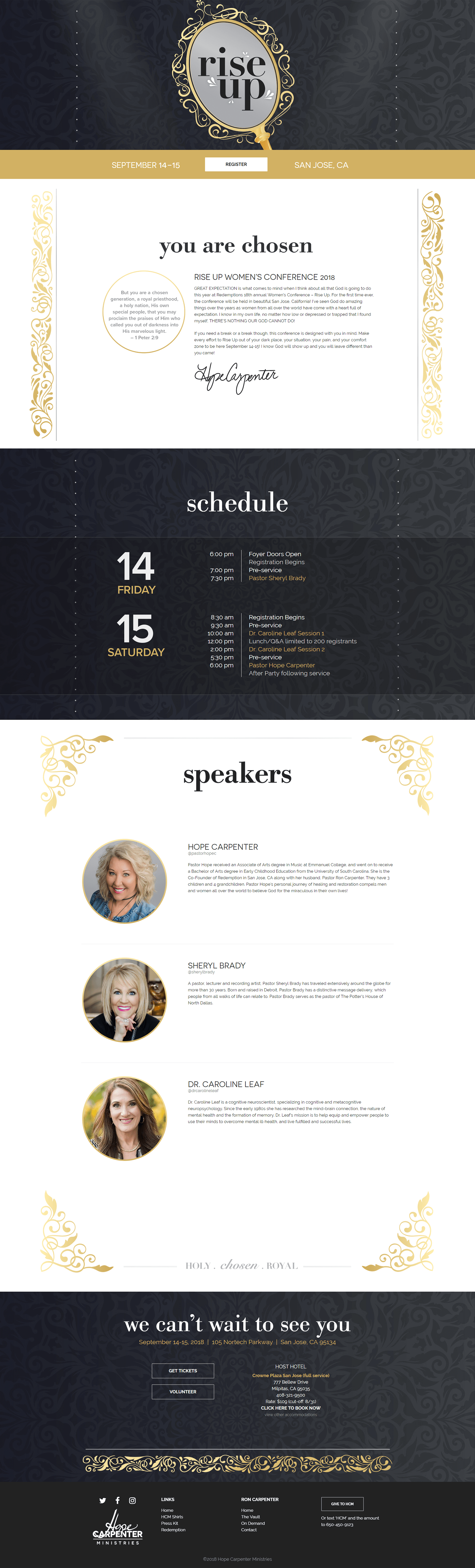 Rise Up Conference homepage